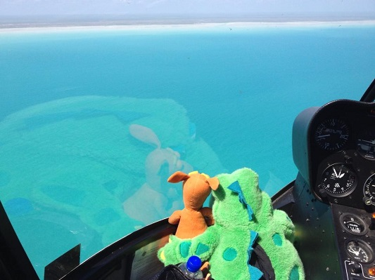 Flying over Broome