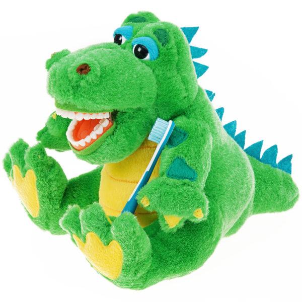allie gator plush dental brushing front