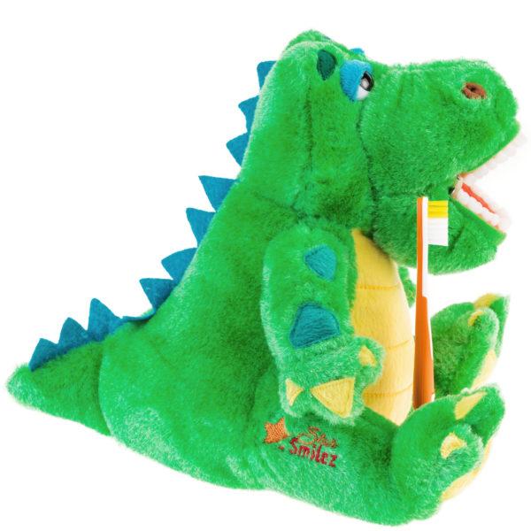 allie gator plush dental pal side