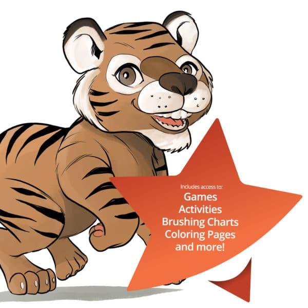 lil tango tiger plush dental education pal activity kit