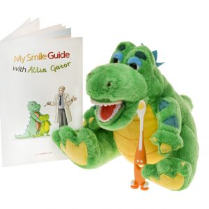 My Smile Guide with Allie Gator Plush Brushing Buddy
